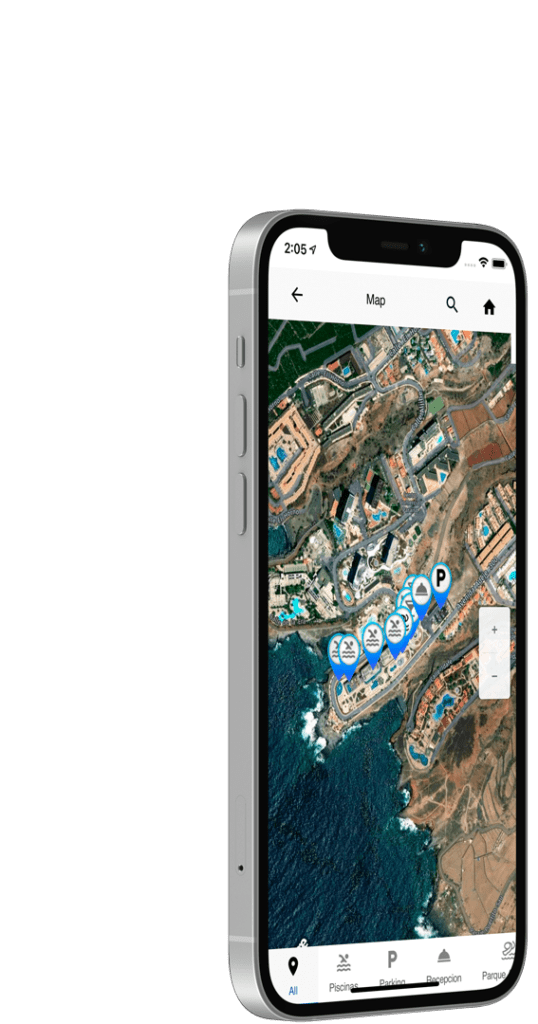 Interactive hotel map in app